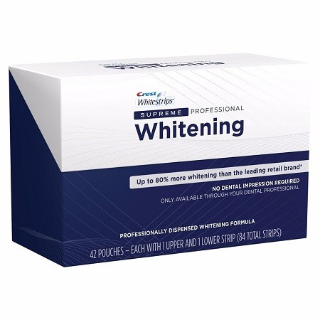 Crest Supreme White Strips Professional Whitening Uk Teeth