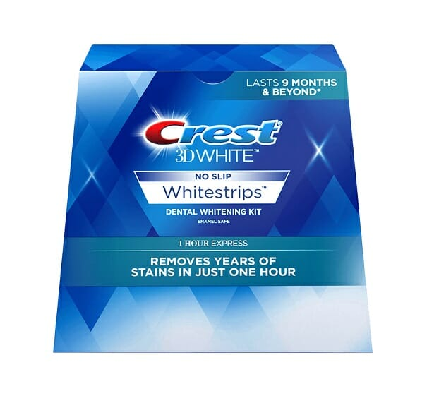 Crest 1 Hour Express Whitening Strips Remove Years Of Stains In 1 Hour