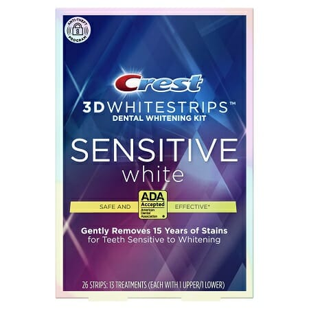 Crest 3d White Strips Sensitive White Removes 15 Years Of Stains Uk